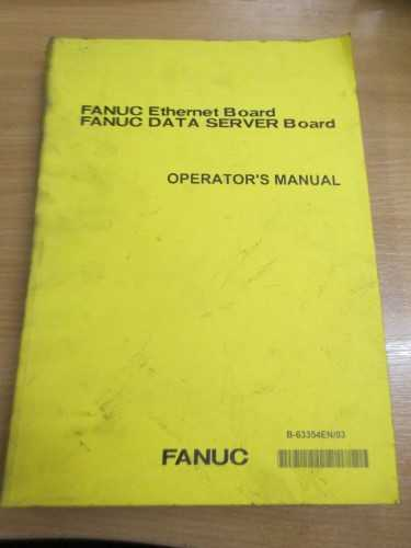 Fanuc Ethernet Board Operator's Manual