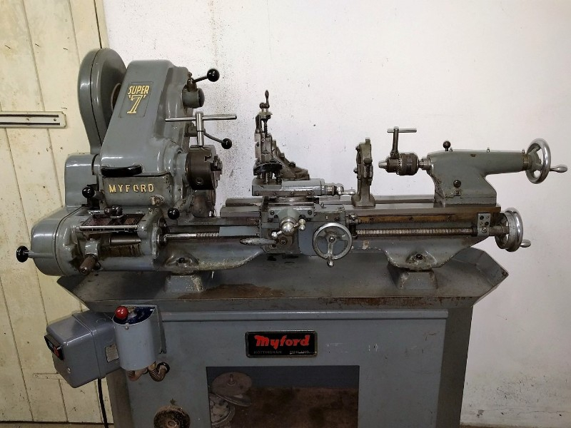 Myford Super 7 Lathe with Screwcutting Quickchange Gearbox & Stand