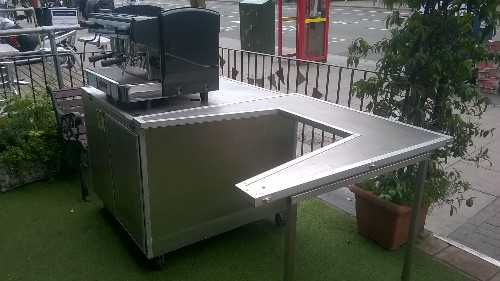 Coffee machine and cart for sale. Supplies include