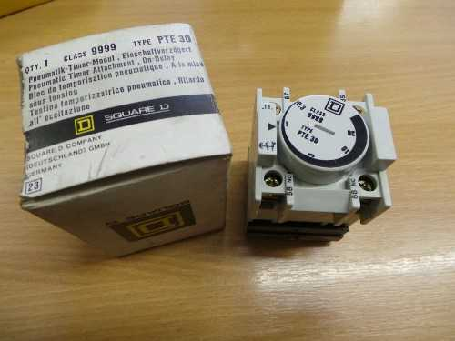 Square D Pneumatic Timer Attachment PTE 30