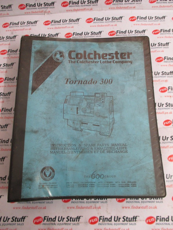 Colchester Lathe Tornado 300 Instruction Manual