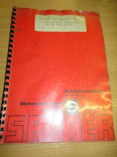 Sauter Control Unit EK400 Operation Manual