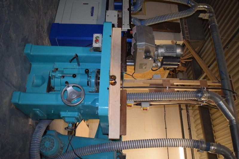 Watkin-Spindle Moulder with 3 roller power feed unit