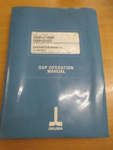 OSP-U100G / OSP-U10G Operation Manual