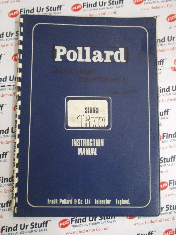Pollard Multi Spindle Drilling Machine Manual