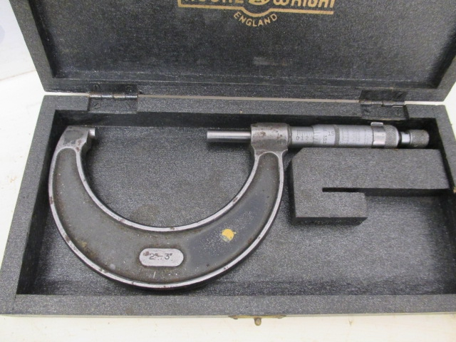 "Moore & Wright No. 966 2"" - 3"" External Outside Micrometer - Used Condition"