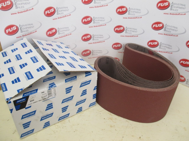 Norton Abrasive Belts 150 x 1525 mm P60 - Unused, 10 Belts