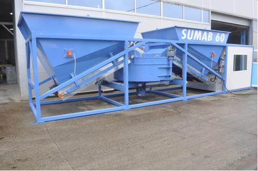 Mobile concrete batching plant SUMAB K 60