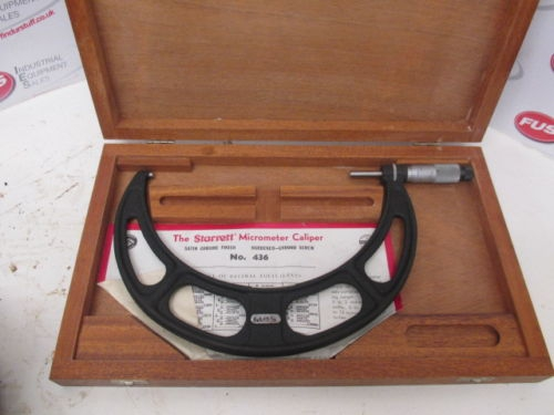 "Starrett No 436 8-9"" Micrometer - Very Good Condition In Wooden Box"