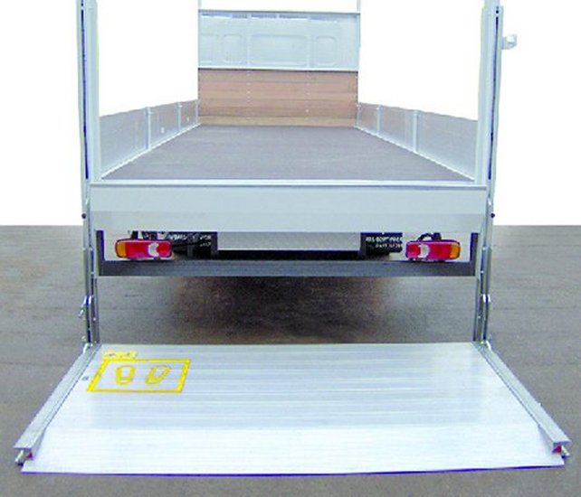 1 ton D'hollandia column tail lift / alu platform