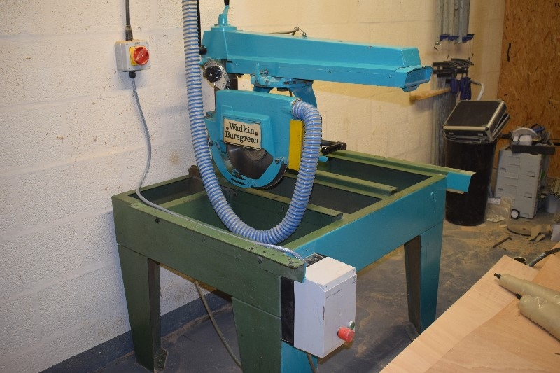 Wadkin Radial arm cross cut saw