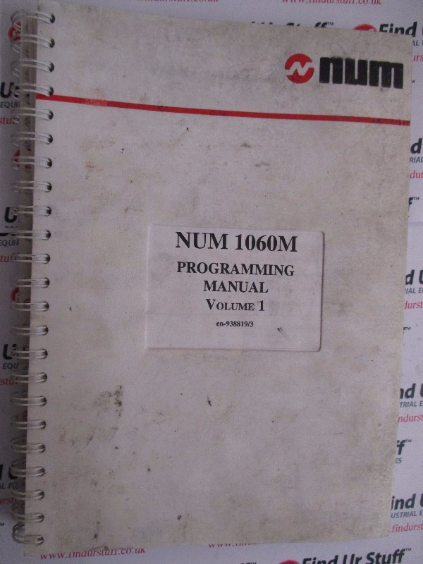 Num 1060M Programming Manual Volume 1