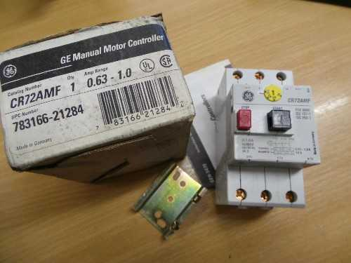 GE Manual Motor Controller CR72AMF 0.63-1.0
