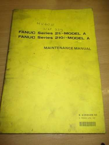 Fanuc Series 21i-Model A Maintenance Manual