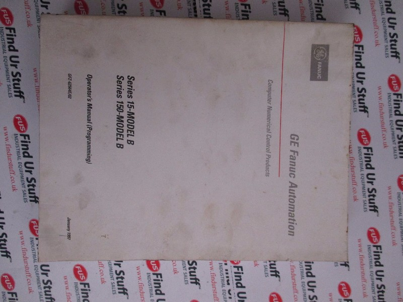 Fanuc Series 15-Model B/Series 150-Model B Manual